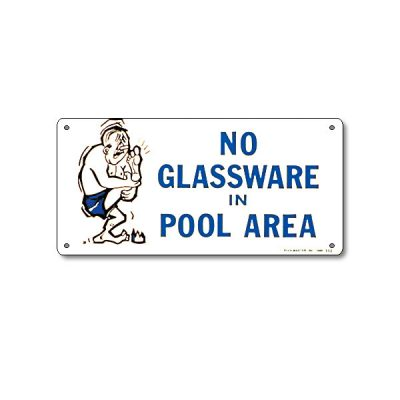 41332 | 12'' x 6'' No Glassware in Pool Area
