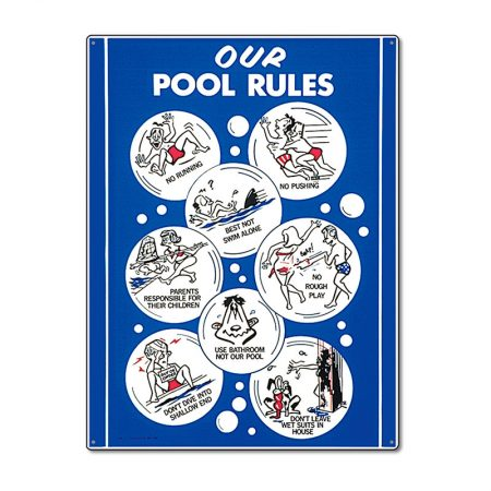 41336 | 18'' x 24'' Our Pool Rules