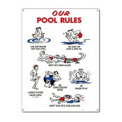 41337   18'' x 24'' Our Pool Rules