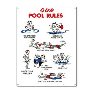 41337 | 18'' x 24'' Our Pool Rules