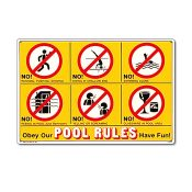 41357 | 18'' x 12'' Obey Our Pool Rules