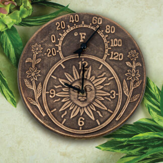 52551 | Terra-Cotta Clock & Thermometer - Lifestyle 1
