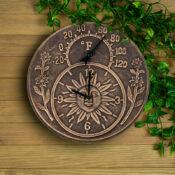 52551 | Terra-Cotta Clock & Thermometer - Lifestyle 2