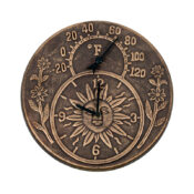 52551 | Terra-Cotta Clock & Thermometer - Product 1