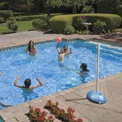 Across-Pool Volleyball / Badminton Game Combo