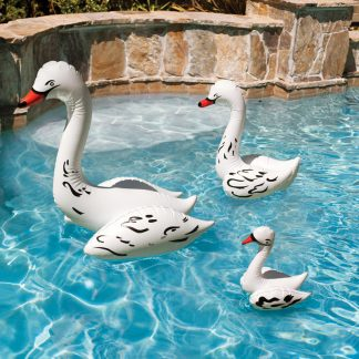 81410-30 | Swan Family Pool Décor - Lifestyle 2