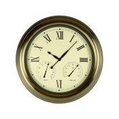 "18"" Bronze Clock, Thermometer and Hygrometer"