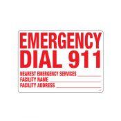 40356   Emergency 911 Sign