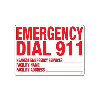 40356 | Emergency 911 Sign