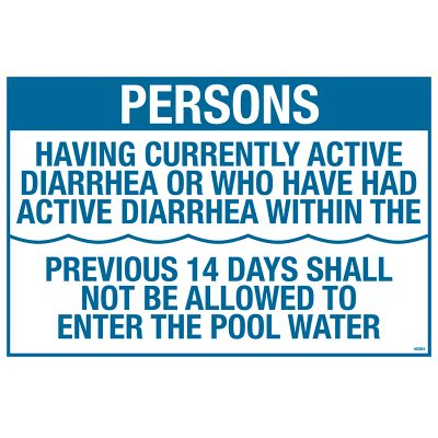 CA Pool Rules Sign