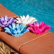 54513 | Set of 4 Floating Lotus Lights - Lifestyle 6