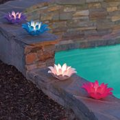 54513 | Set of 4 Floating Lotus Lights - Lifestyle 3