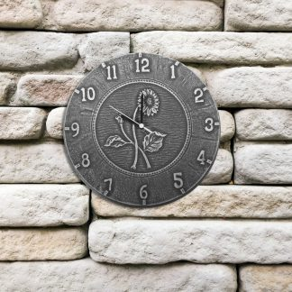 52552 | 12'' Terra Cotta Antique Black Clock - Lifestyle