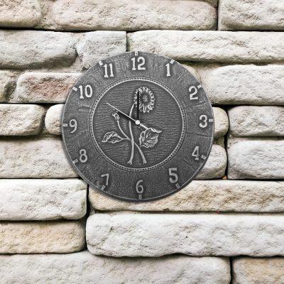 52552 | 12'' Terra Cotta Antique Black Clock - Lifestyle