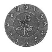 52552 | 12'' Terra Cotta Antique Black Clock