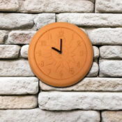 52550 | 12'' Terra Cotta Clock - Lifestyle 1