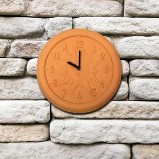 52550 | 12'' Terra Cotta Clock - Lifestyle 1