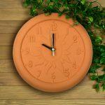 12'' Terra Cotta Clock