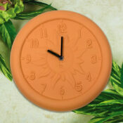 52550 | 12'' Terra Cotta Clock - Lifestyle 2