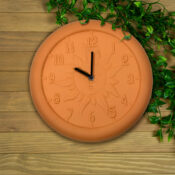 52550 | 12'' Terra Cotta Clock - Lifestyle 3