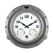 52538 | 18'' Silver Porthole Clock