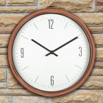 52542 | 16'' Bronze Contemporary Clock - Lifestyle 1