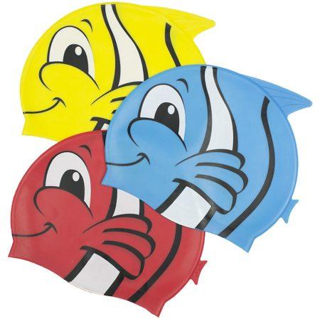 99032 | Fish Silicone Swim Cap - Group