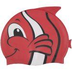 99032 | Fish Silicone Swim Cap - Red