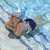 99033   Smiling Piranha Silicone Swim Cap - LS 3