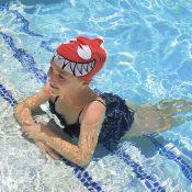 99033   Smiling Piranha Silicone Swim Cap - LS 4