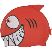 99033 | Smiling Piranha Silicone Swim Cap - Red