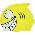 99033 | Smiling Piranha Silicone Swim Cap - Yellow