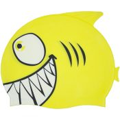99033 | Smiling Piranha Silicone Swim Cap - Yellow