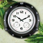 18'' Black Porthole Clock
