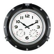 52539 | 18'' Black Porthole Clock