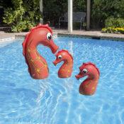 Seahorse Family Pool Décor - 3PK