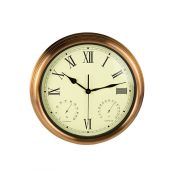 """15"""" Copper Clock, Thermometer and Hygrometer"""