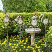 Flamingo Thermometer Garden Stake