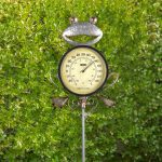 Frog Thermometer Garden Stake