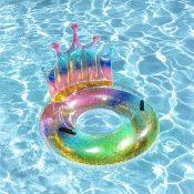 """43"""" Rainbow Glitter Tiara Tube"""