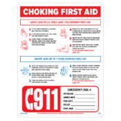 Choking First Aid Sign